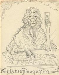 kartenschlaegerin [the cartomancer] by alfred kubin